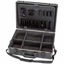Draper 85744 Garage Workshop Aluminium Effect Tool Case Black Finish Lightweight