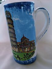 Leaning Mug Tower Of Pisa Coffee Cup White Blue