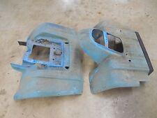 yamaha moto 4 350 yfm350er front rear back fenders plastic fender 1987 1988 blue