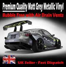 1000mm x 750mm Air Drain Matt Grey Metallic Vinyl Film - Matte Car Wrap Sticker