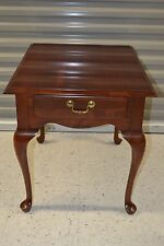 Ethan Allen Georgian Court Rectangular End Table Cherry #11-8407 205 Newport (B)
