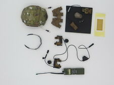 Easy & Simple BRAGG 26007 1/6 Multicam Helmet Quad NVG Radio Glasses Headset Lot