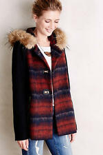 NWT ANTHROPOLOGIE Berwick Swing Coat by Elevenses, S, Favor Hooded Jacket