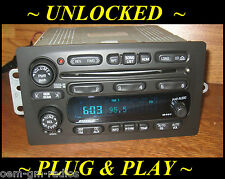 UNLOCKED 02-03 CHEVY Trailblazer GMC Envoy BOSE 6 Disc CD Changer Radio Player
