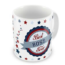 Best Boss Ever Novelty Gift Mug - Blue / Red