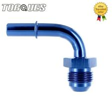 """AN-8 (-8AN JIC AN-08) 90 Degree Quick Connect 3/8"""" Male Fuel Hose / Line Adapter"""