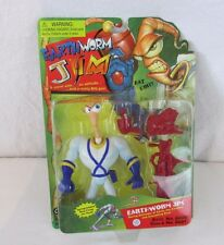 EARTHWORM JIM PLAYMATES ACTION FIGURE SPRING LOADED Real Firing Jim Head