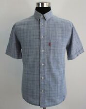 Men's LEVIS  Casual Shirt, Blue, Size L Large, 100% Cotton, Short sleeves #KM627