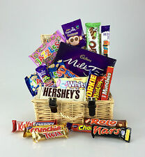 The Wicker CHOCOLATE  Large 25 Items CADBURY- NESTLE  REESE'S Birthday Get Well