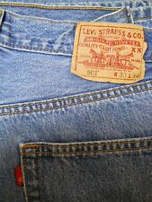 Vintage Levi 501 Blank Red Tag Button Fly Denim Jeans W33 L34 WPL426 100% Cotton