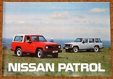 1986 NISSAN PATROL UK Sales Brochure - Hardtop & Estate - Brand New Old Stock!!