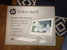 Hp All-in-One 20-c023w 19.5 PC 4GB DDR3L 500GB Intel Celeron Windows 10 NEW