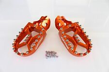 AIRTIME BILLET CNC WIDE FAT FOOT PEGS FOR KTM 350XCF (2016-2017) - OR5516