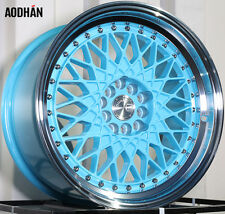 Aodhan Ah05 17X9 5X100/114.3 Et25 Tiffany Blue Rims(Set Of 4)