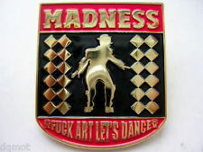 MADNESS - OFFICIAL 2010 TOUR ENAMEL BADGE - MINT CONDITION - SUGGS / TWO 2 TONE