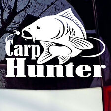 Carp Hunter Fishing Hunting Fish Truck Car Laptop Decal Vinyl Window Sticker