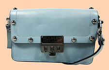 MARC By Marc Jacobs Small  Espionage Ice Blue Leather Cross-Body Bag Msrp$248.00