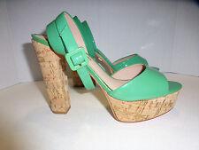 Pour La Victoire Women's heel size 8, Vero Cuoio, Cork Platform Green