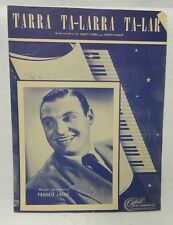 1948 - Tarra Ta-Larra Ta-Lar - Sheet Music Recorded by Frankie Laine