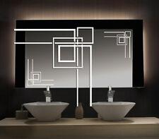 Spiegel und Glas Dekor Aufkleber in Gravur Optik Fenster Ranke Cubes 10.80