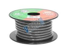 New Pyramid Audio 8 Gauge Black Ground Copper Wire Bulk 25 Ft Cable Spool RPB825