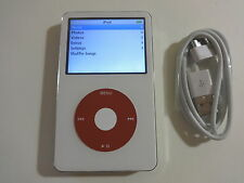 APPLE  IPOD  5.5 GEN.  CUSTOM  WHITE/RED  60GB...NEW HARD DRIVE...