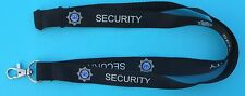 SIA Security Officer Black Neck Lanyard with Logo