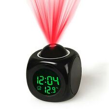 Alarm Clock Multi-function Digital LCD Voice Talking LED Projection Temperature