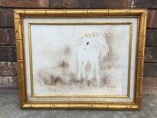 Vintage Home Galleries Certified Oil Painting Whimsical Unicorn Signed by TEMPEL