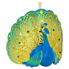 2016 Hallmark Keepsake Pretty Peacock Premium Porcelain Ornament NIB