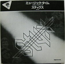 """STYX Music Time 1984 JAPAN Promo 12"""" De Young 38 SPECIAL Back Where You Belong"""