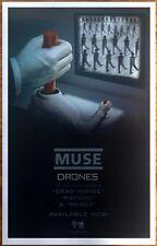 MUSE Drones 2015 Ltd Ed RARE New Poster +FREE Rock/Alt/Metal/Indie Poster!