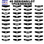 40 PCS Custom Led Light Bar Cover Decal Sticker for PlayStation 4 PS4 Controller