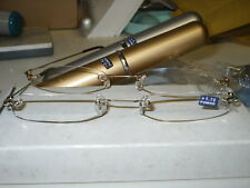 TUBE READING GLASSES SILVER  2.25