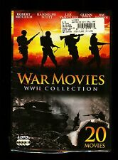WAR MOVIES WWII COLLECTION 20 MOVIES ROBERT MITCHUM/ G. FORD 4 DVDS NEW SEALED