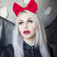 Red large bow headband Rockabilly Pin up girl Snow White