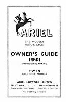 1951-1952 Ariel Twin KG & KH owners guide