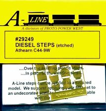 HO SCALE:  PROTO POWER WEST 29249:  ATHEARN C44-9W DIESEL STEPS / ETCHED