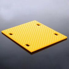 5pcs Plastic floor Chassis plate 90*75*3mm yellow for toy car DIY model NEW