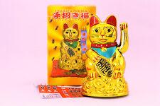 Chino Lucky Cat saludando Brazo buena suerte 4.5 Pulgadas Feng Shui japonés Maneki Neko