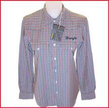 Bnwt Authentique Wrangler homme à manches longues Chemise rayée petites nouvelles rrp £ 59,99