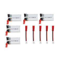 5Pcs 3.7V 420mAh 20C Lipo Battery Kit for JJRC H98 H21 HuanQi 868