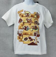 Minecraft Boys Board Game T-Shirt White Size 4 Ender Dragon Free Shipping