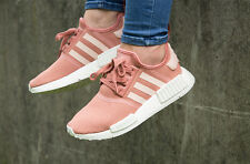 NEW WOMEN'S ADIDAS NMD R1 RUNNER RAW PINK ROSE SALMON WHITE PEACH SIZE 6.5 EU38