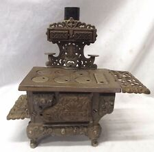 "Old Antique CAST IRON ""EAGLE"" Miniature CHILD'S COOK STOVE Ornate VICTORIAN TOY"