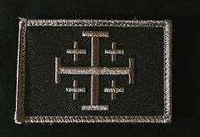 JERUSALEM CROSS CRUSADER DARK OPS JIHAD TACTICAL HOOK ARMY MORALE BADGE PATCH