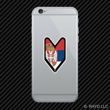 Serbian Driver Badge Cell Phone Sticker Mobile Serbia SRB RS