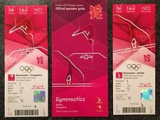 LONDON 2012 TICKETS GYMNASTICS 4&6 AUG PLUS SPECTATOR GUIDE *MINT*