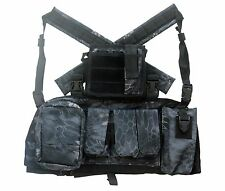 DLP Tactical RRV Chest Rig MOLLE Vest in Kryptek Typhon with four pouches