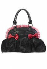 BANNED STRIKING GOTHIC STYLING  SKULL  IVY  PATTERN REINVENTION BAG